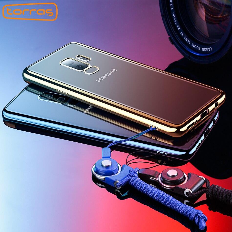 Torras Für Samsung S9 Fall Abdeckung Galvanik Tpu Fall Für Samsung Galaxy S9 Plus 360 Volle Abdeckung Stoßfest Handy fällen