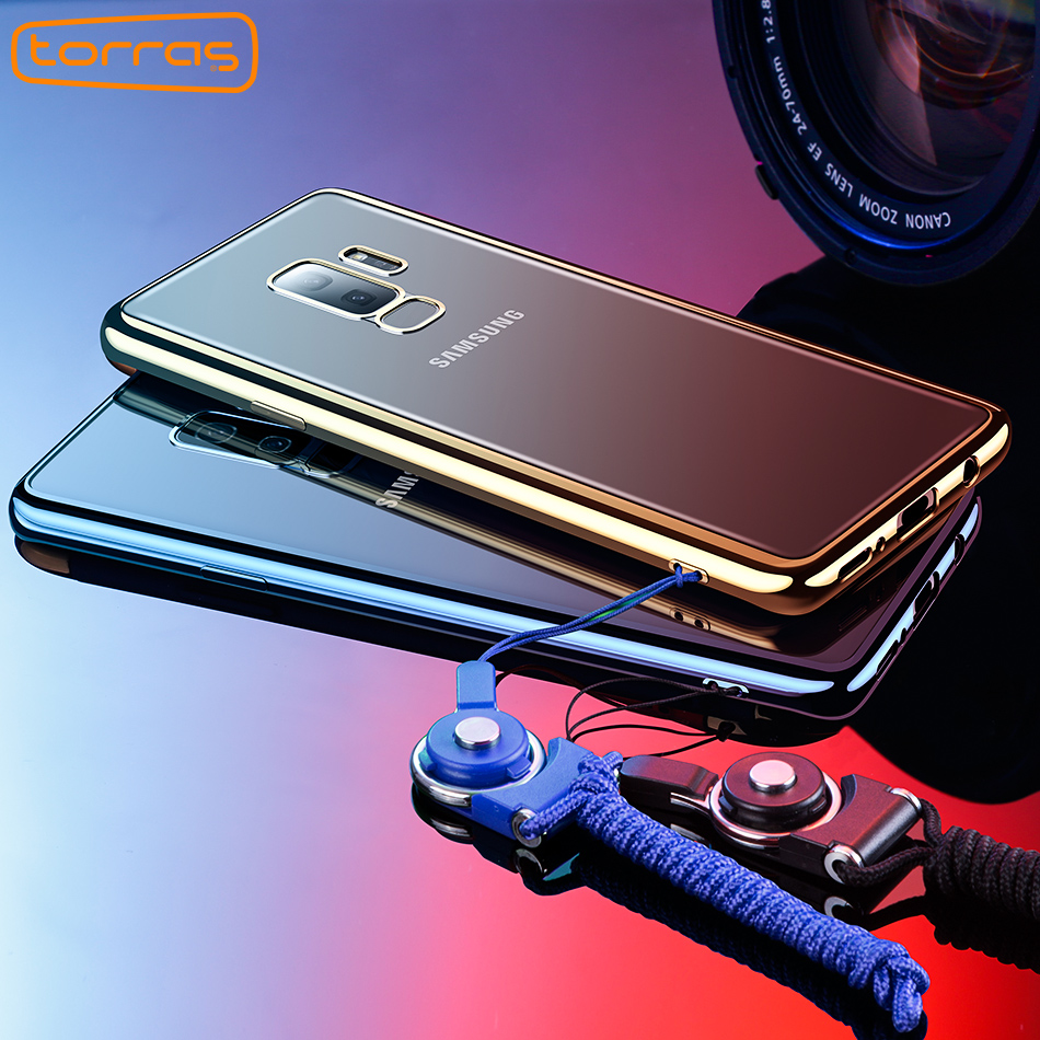 1f813cd8c6ce Torras For Samsung S9 Case Cover Electroplating Tpu Case For Samsung Galaxy  S9 Plus 360 Full Cover Cover Shockproof Phone Cases