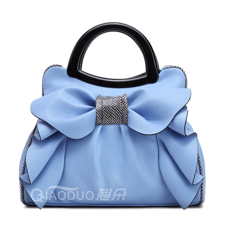 ФОТО New brand women bag with large bow shoulder bags ladies designer handbag high quality black pu leather tote bag 8 colors XA249B