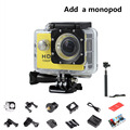 720P HD SJ 4000 1.5inch LCD Mini Camera Photo Video Recorder 30M Waterproof Sport DV Bike Helmet Cam Mini Camcorders + Monopod