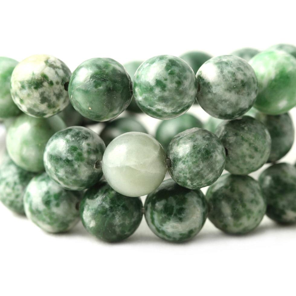 Hot Sale Green Dot Natural Stones Beads For DIY Jewelry