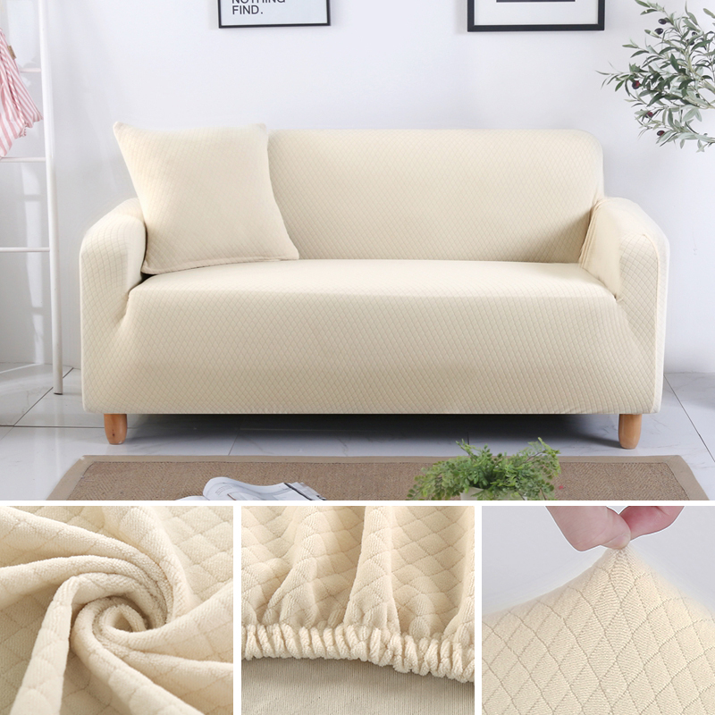 US $7.0 50% OFF|Jacquard Thick Sofa Slipcover Living Room Couch Cover  Elastic Stretch Chair Sofa Cover Pet Dog Furniture Protector 1/2/3/4  Seat-in ...