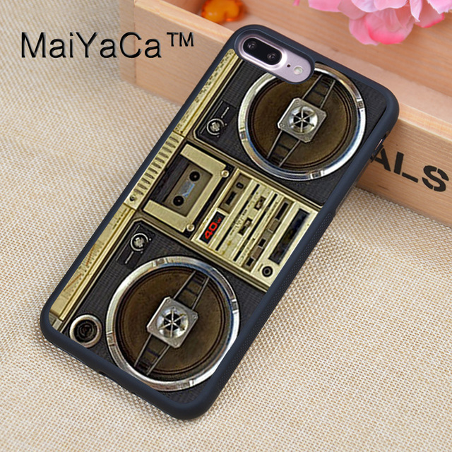 251ec9874b3 MaiYaCa Boom Box Retro Radio Vintage Luxury Soft Rubber Fitted Cases For iPhone  8plus Cover For Apple iPhone 8 plus Back Shell