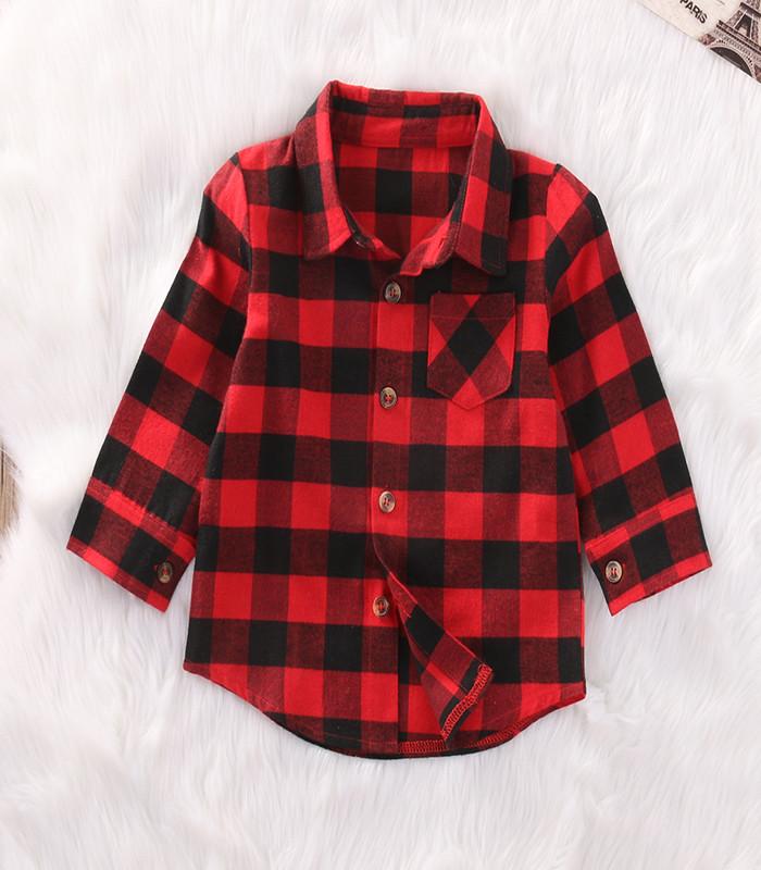 nouveau design meilleur endroit pour courir chaussures € 3.06 32% de réduction|Mode enfants garçons fille coton à manches longues  chemise à carreaux chemise haut chemisier enfants vêtements-in Chemises ...