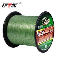 FTK 300M/500M Braided Wire PE Braided Fishing Line 0.10mm-0.40mm 0.4-6.0# Code 4 Strands 8-60LB PE Multifilament Fishing Line