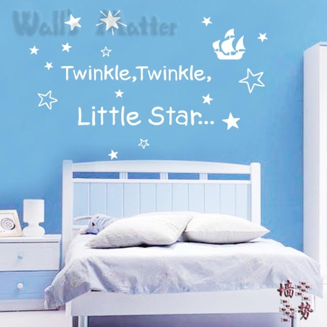 Twinkle Twinkle Little Star Baby Sleeping Quotes Removable