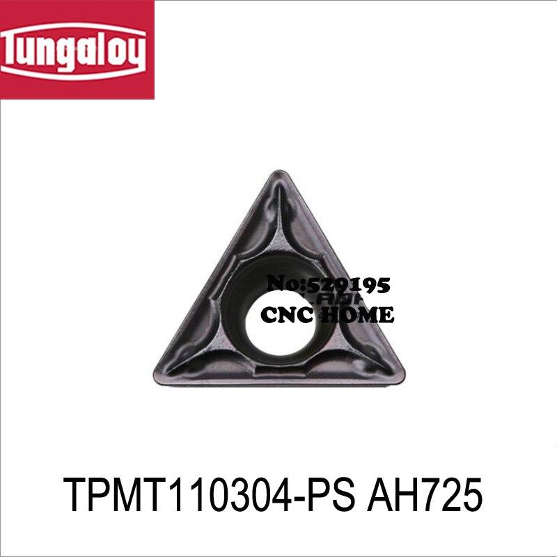 Tungaloy TPMT TPMT110304 TPMT110304-PS TPMT110308-PS AH725 herramientas de torneado Inserto de Carburo de Tungsteno herramientas de corte CNC