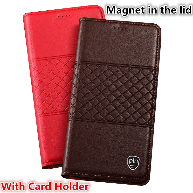 HX01 For Nokia 9 PureView(5.99') Case Genuine Leather Flip Case For Nokia 9 PureView Magnetic Stand Phone Case