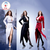 1/6 Female Action Figure Clothes Trench Coat Set With Belt Socks Sexy Suit for 12 inch Phicen Tbleague Jiaoudoll Body Figure