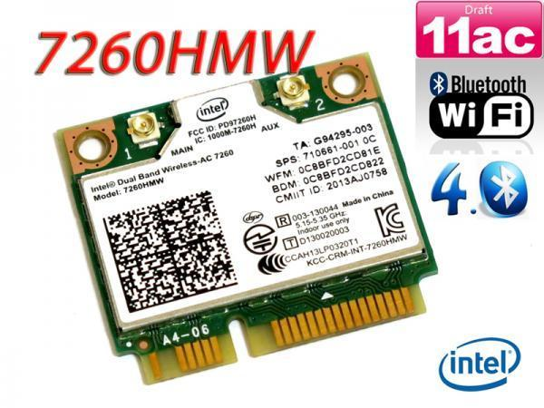 Wireless card for intel 7260HMW 710661 001/784639 005 ac 7260 dual band 867mbps WiFi+BT 4.0 PCIe for HP EliteBook 840 14 17