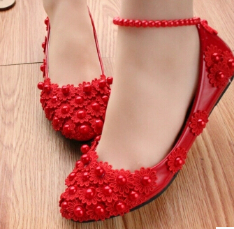 ФОТО HANDMADE spring summer red lace flats shoes for women, TG004 custom make different heel woman red dress shoe, anklets dance shoe