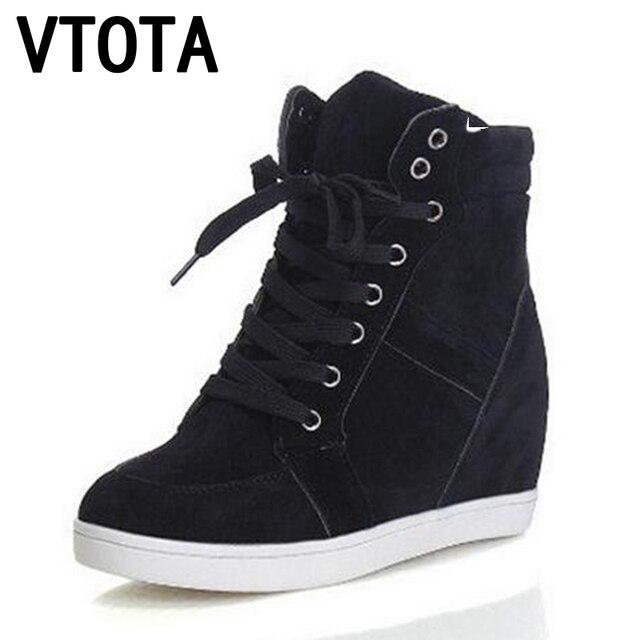 O envio gratuito de botas de Salto Alto mulheres sapatos da moda mulher zapatos mujer Cunhas Sapatos Casuais Fosco rendas Mulheres Sapatos X309