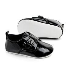 Мокасины детские из ПУ кожи мягкая подошва обувь для первых