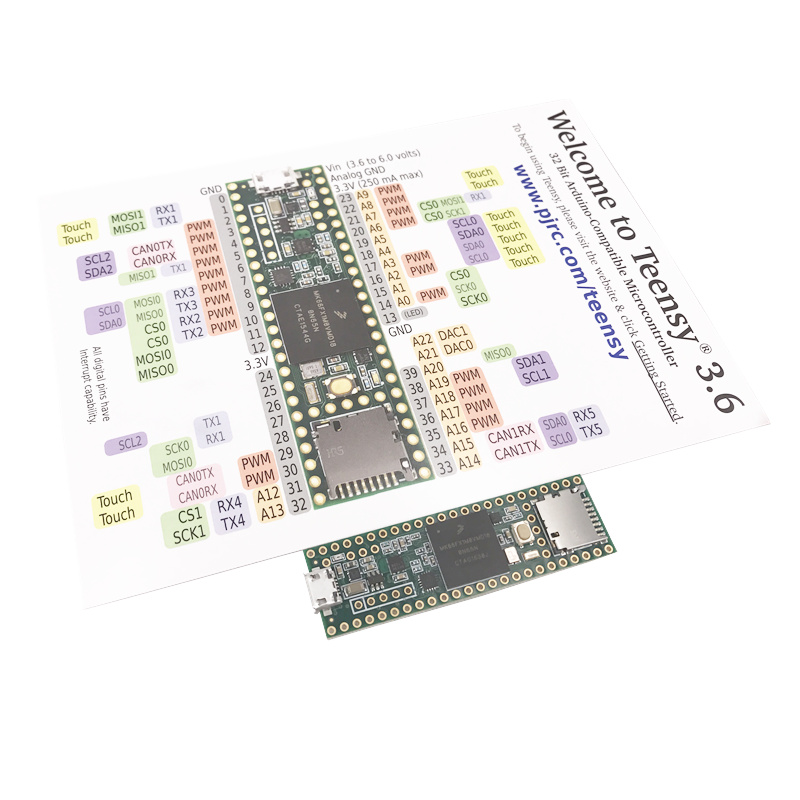Spot 3266 Teensy 3 6 MK66FX1M0VMD18 Industries Teensy3 6 without headers module development board