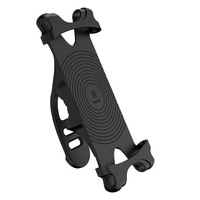 Baseus Miracle Universal Bicycle Motorcycle Mobile Phone Holder Aluminum Alloy Silicone 4 6 Inch Vehicle Mounts