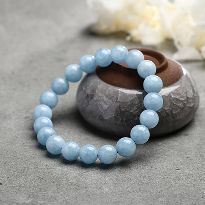 HTB1Muj3JWSWBuNjSsrbq6y0mVXac Natural Aquamarine Bracelet Single Circle Crystal Bracelet Jewelry 6-10mm Beads Romantic Casual Crystal Yoga Bracelet