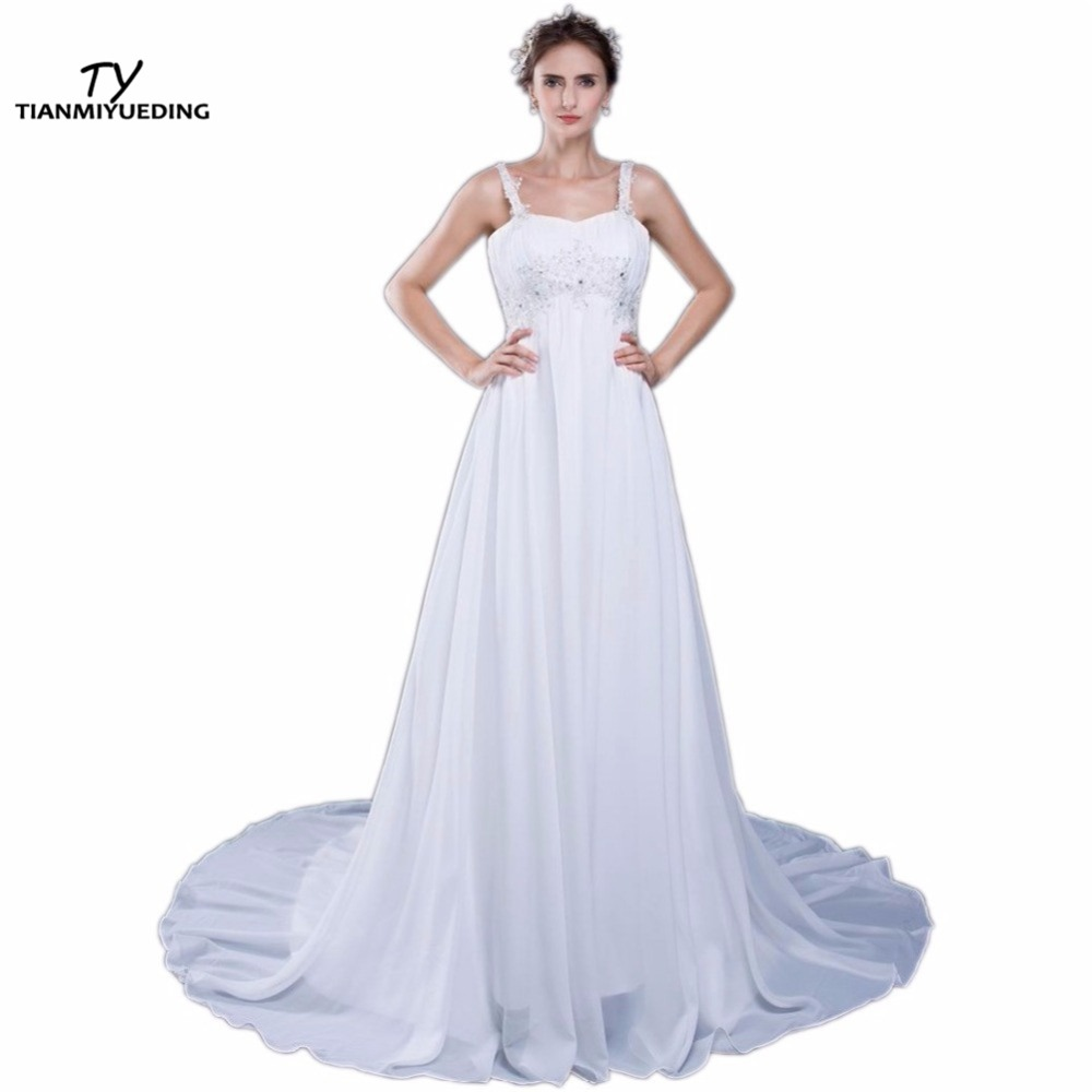 Cheap maternity wedding gowns reviews online shopping cheap cheap plus size maternity wedding dresses 2017 spaghetti straps appliques draped chiffon plus size pregnant bridal gowns ombrellifo Images