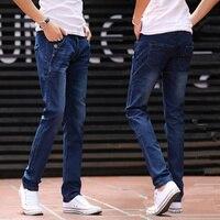 Подростковые мужские джинсы осень и зима новые Харлан прямые тонкие повседневные мужские дикие трендовые длинные штаны