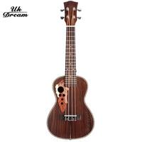Ukulele Wooden Acoustic Guitar Brown Musical Instruments 23 inch Classic Fringe Closed Knob Rosewood Guitarra Ukelele UC 73M
