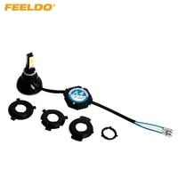 FEELDO H6M/H4/P15D25 3/S2(BA20D) 4in1 Motorcycle 2400LM LED 24W 6000K Hi/Lo Bulb Light Headlight KITS #1354