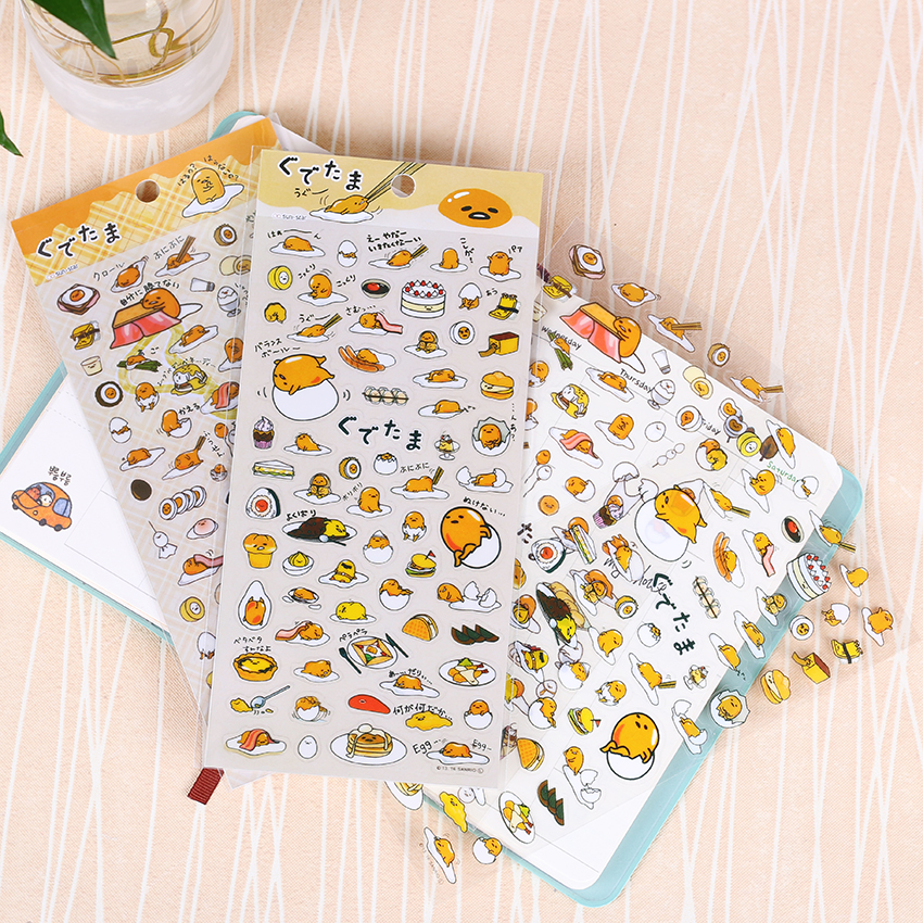 1 PC Cute Cartoon Stationery Stickers Transparent Lazy Egg PVC Kawaii Planner Stickers Sticky Notes  Papelaria