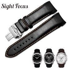 מקורי עגל עור גברים רצועת השעון 1853 עבור Tissot שעון רצועת T035410A 407A Couturier 22 23 24mm להקות לצפות החגורה צמיד