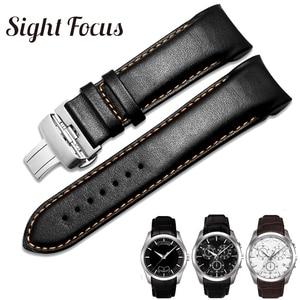 Image 1 - מקורי עגל עור גברים רצועת השעון 1853 עבור Tissot שעון רצועת T035410A 407A Couturier 22 23 24mm להקות לצפות החגורה צמיד