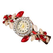 Hot Sale Fashion Luxury Women's Watches Crystal Dial Bright Diamond Alloy Band Clock Women Bracelet Watch Creative Jun26