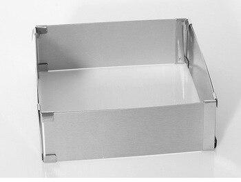 1 PC In Acciaio Inox di Forma Quadrata Torta Mousse Anello Regolabile Mousse Muffa Della Torta di Cottura Accessori KX 176