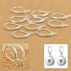 100 шт./лот Jewellery Компоненты натуральная 925 пробы серебро ручной работы Beadings выводы крючки для серьг Leverback застежки-крючки для серег