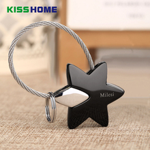 Fashion Creative Metal Stars Keychains For Couple Removable 5 Colors Zinc Alloy Key Ring Auto Accessories