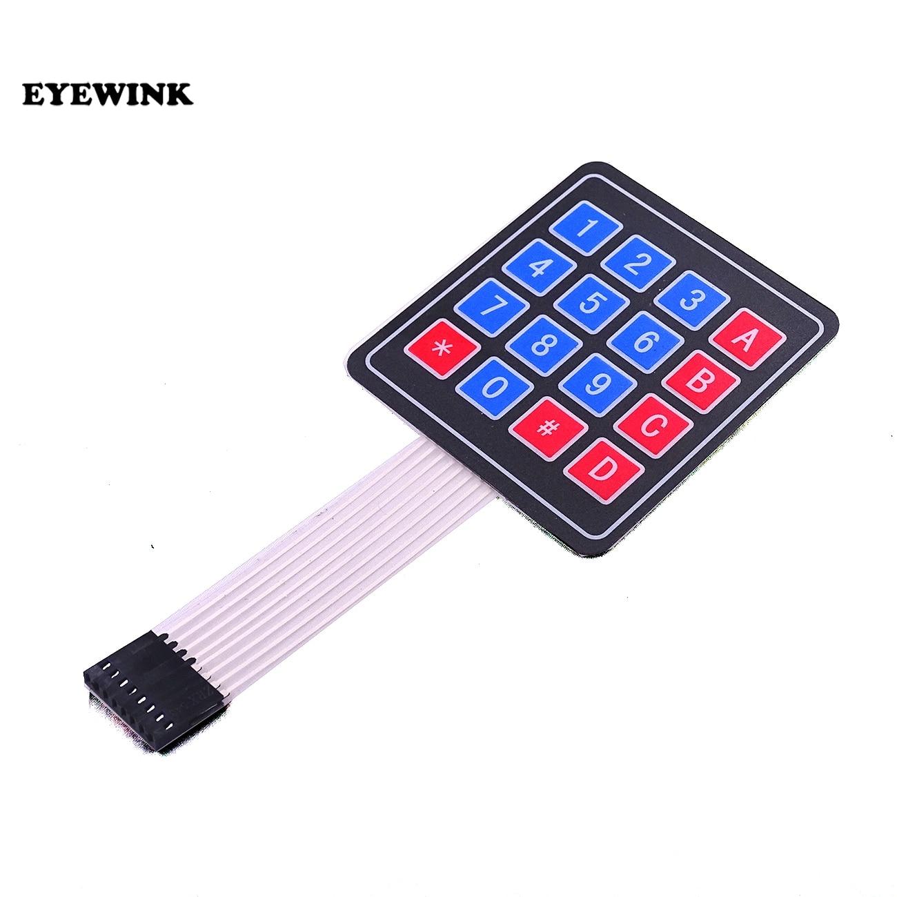 EYEWINK 100PCS New 4 4 Matrix Array Matrix Keyboard 16 Key Membrane Switch Keypad