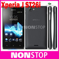 """ST26 Unlocked Original Sony Xperia J ST26i Cell phone GPS Wi-Fi 5MP 4.0"""" TFT Capacitive Touchscreen Android OS"""