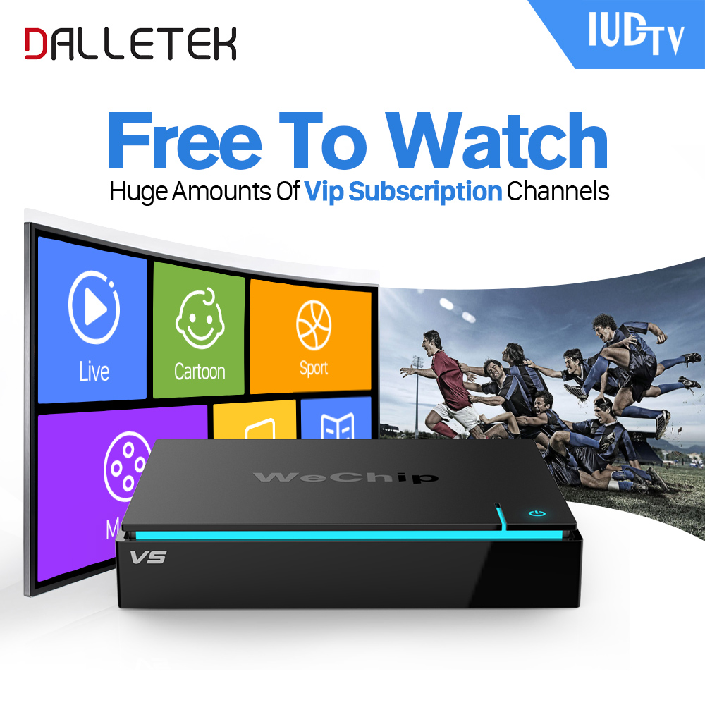 Dalletektv IPTV Android TV Set Top Box 2G TV Receiver Arabic IPTV Europe French Italy IPTV Subscription 1 Year IUDTV IPTV Code фен дорожный supra phs 1211 white silver