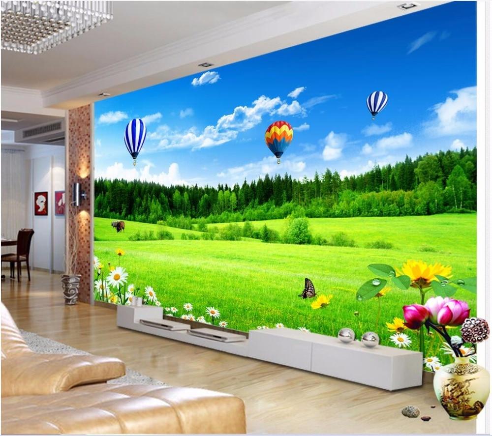 US $13 93 OFF Kustom Mural 3d Foto Wallpaper Indah Prairie Latar Belakang Tv Dekorasi Lukisan Gambar 3d Dinding Mural Wallpaper Untuk Dinding 3