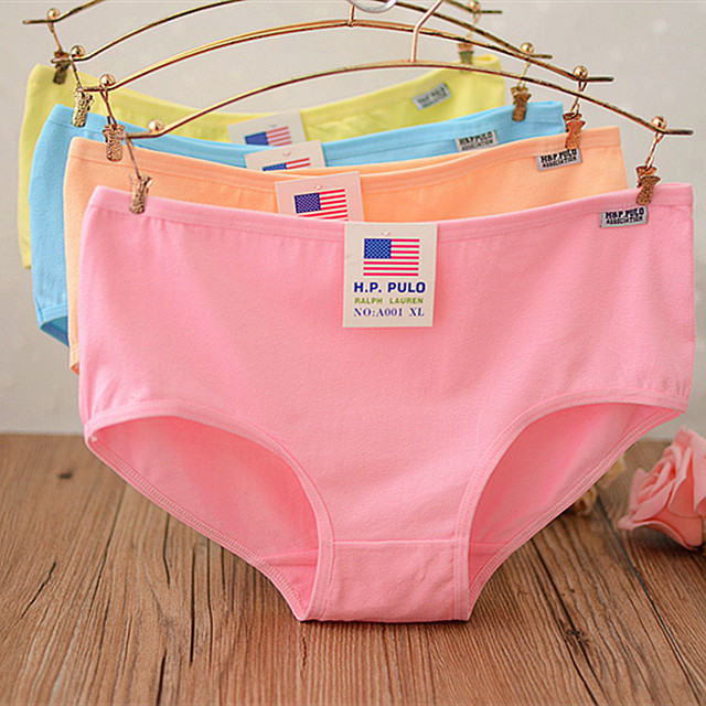3fd3495fc55a Hot Candy Color Intimates Sexy Female Underwear Women's Cotton Panties Lady  Breathable Underpants Girls Knickers Panty Briefs XL