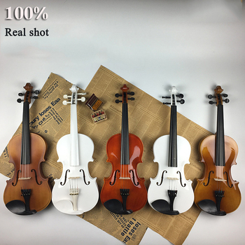 Beginner's Adult 4/4 Exercises Violin Tilia Five Colors Optional Decoration Stage Props Factory Direct Selling