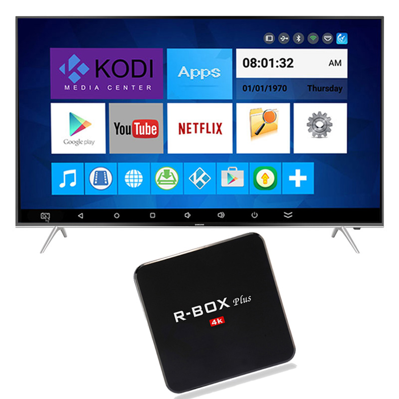 R-Box 2GB 16GB Android TV Box RK3229 Quad Core Wifi 2.4GHZ HD 4K 3D Games Kodi 16.1 Media Player Smart TV Box PK A95X m8s pro r g2 android 4 4 slim game console quad core android 4 4 4k 3d game player box 2gb 8gb dolby 3g 2 4g 5 0g wifi black
