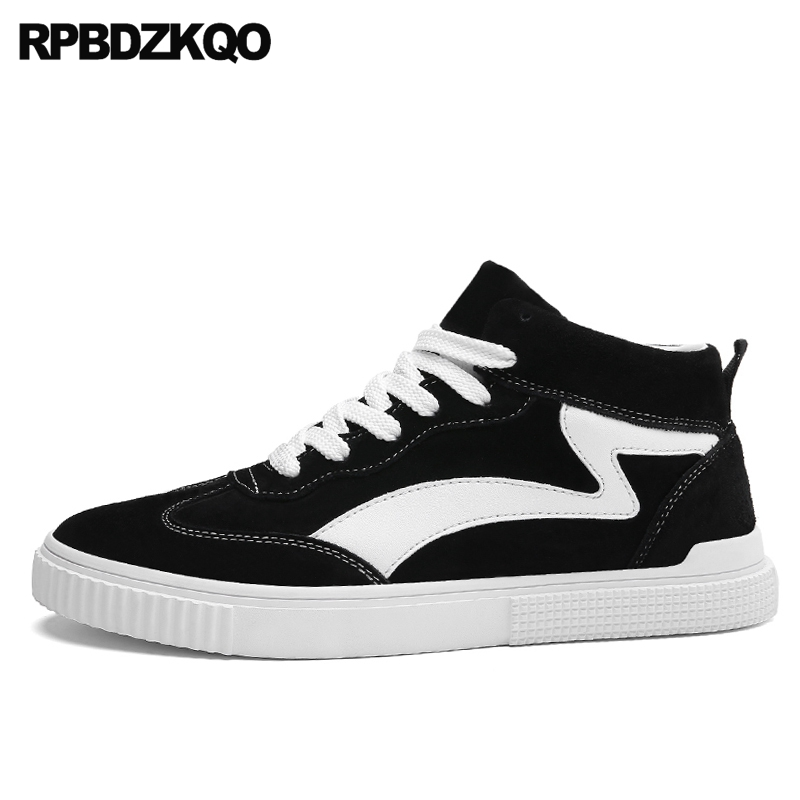 Black Skate Boys Trainers Comfort New Men Shoes Casual Fashion Suede Sneakers Spring Flats Walking 2017 Popular Hot Sale Autumn vik max factory outlet white figure skate shoes two size left ice skate shoes cheap figure skate shoes