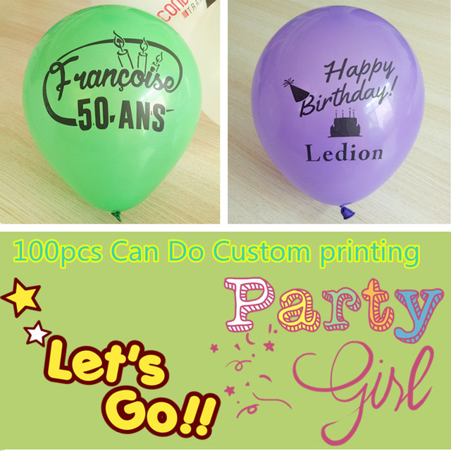 Custom Your Own Party Balloons Personalized Balloon Print Your Name