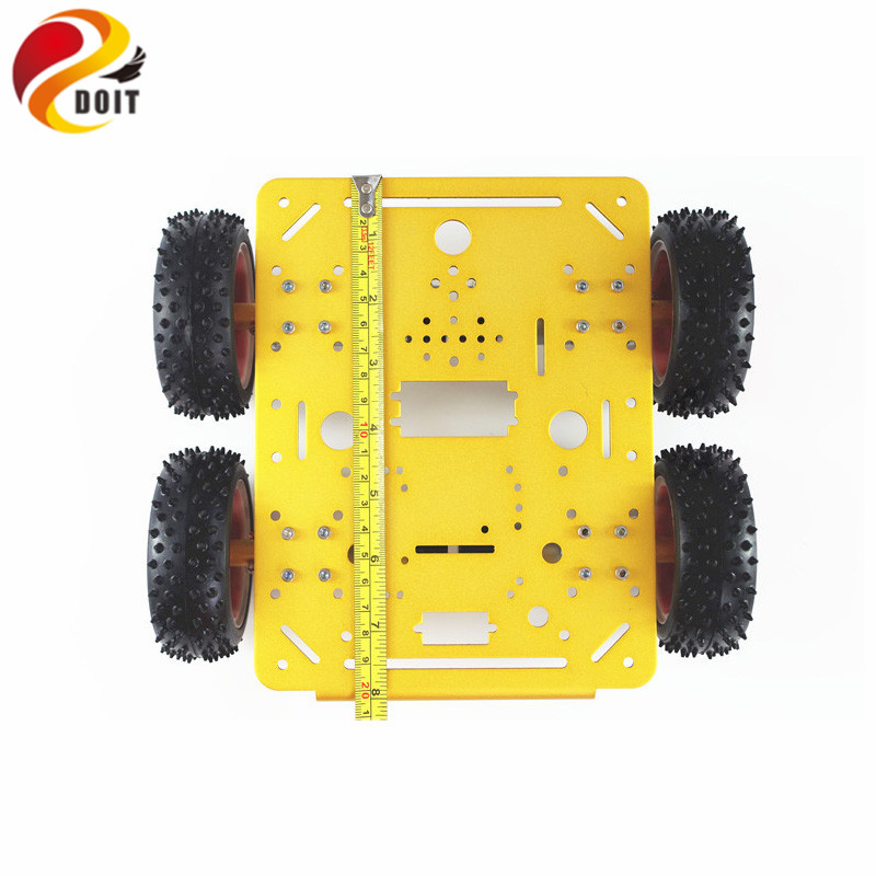 DOIT C300 Smart Robot Car Chassis Controlled by Android and iOS Phone based on Nodemcu ESP8266 4WD Car DIY Android Toy Robot