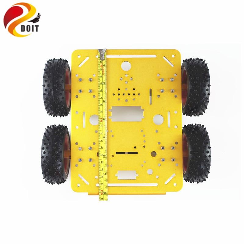 DOIT C300 châssis de voiture Robot intelligent contrôlé par téléphone Android et iOS basé sur Nodemcu ESP8266 4WD voiture bricolage Android jouet Robot