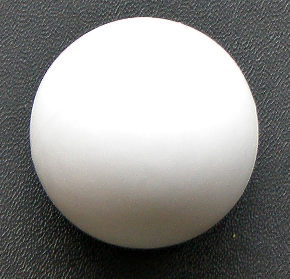 """NEW 2pcs 36mm 1.42"""" PURE WHITE Smooth Foosball Table Soccer Table Ball SOLID PLASTIC Football Balls Baby Foot Fussball 07"""