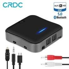 CRDC Bluetooth 5.0 ตัวรับสัญญาณ CSR8675 Aptx HD อะแดปเตอร์ Optical Toslink/3.5 มม.AUX/SPDIF สำหรับรถยนต์ทีวีหูฟังฯลฯ