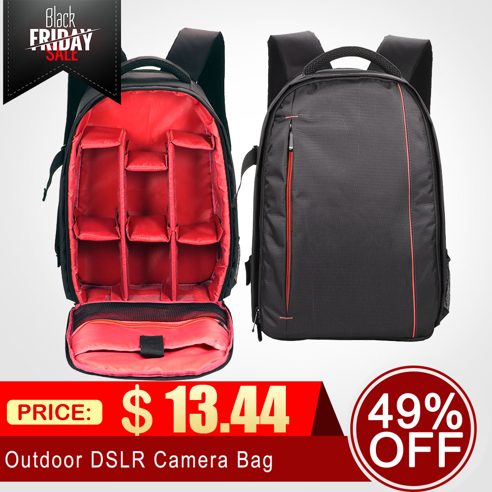 Digital Gear Bags Able New Outdoor Small Dslr Camera Bag Camera Video Backpack Water-resistant Multi-functional Breathable Camera Bags With Tripod Camera/video Bags
