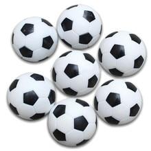 5x Kunststoff 32mm Fußball Indoor Tisch Fußball Ball Ersetzen Schwarz + weiß