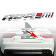Auto Car 3D APR Stage III+ Emblem Tail Side Fender Sticker Badge Universal Fit For Audi R8 RS4 RS5 A4 A5 Porsche Volkswagen(China)