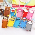 Silicone Card Holder Portable Cute Cartoon String Hello Kitty Metro ID Bus Identity Badge With Lanyard Porte Carte Credit $ 1.63