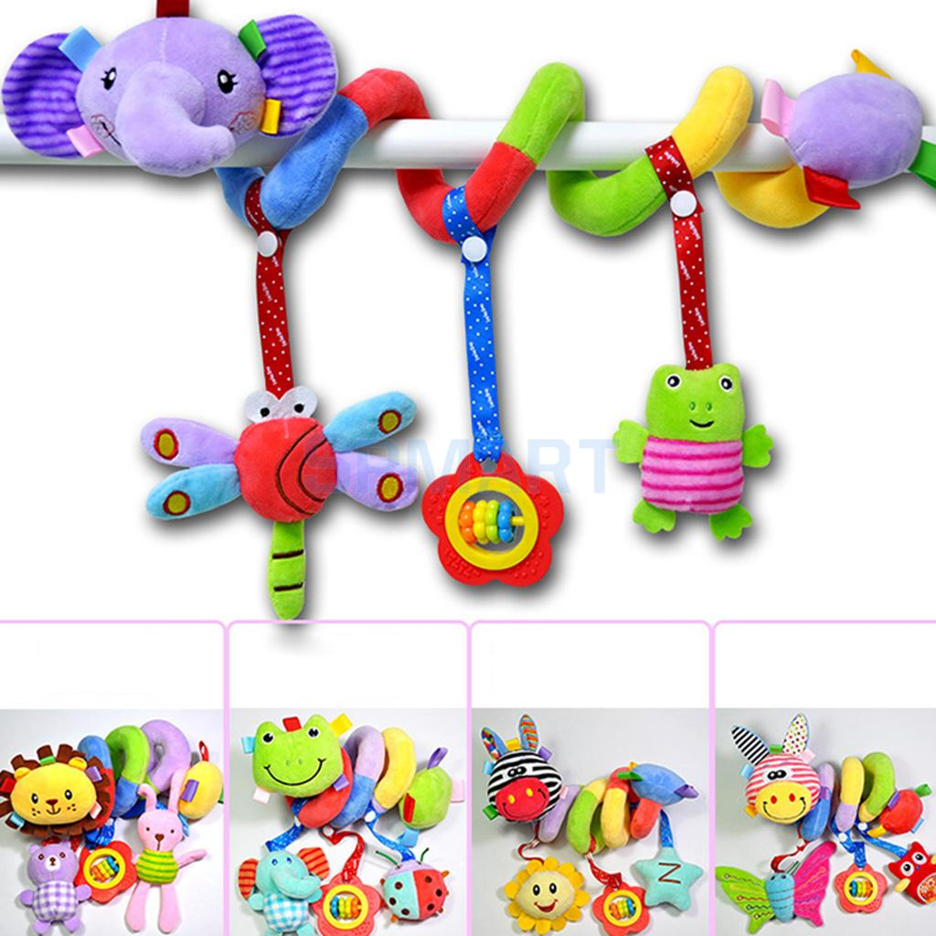 Kid Baby Spiral Cot Activity Hanging Musical Play Toy For Car Seat//Pram//Stroller