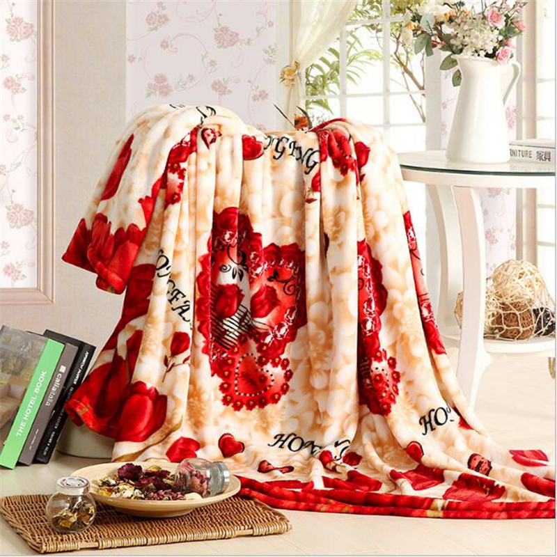 IROYAL Warm Soft Unfading Blanket 200x230cm High Density Super Soft Flannel Blanket To On For The Sofa/Bed/Car Portable Plaids